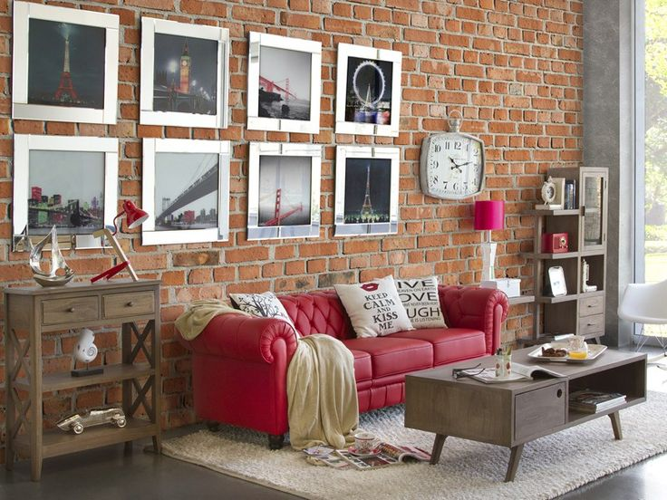 Sofa Chester Rojo